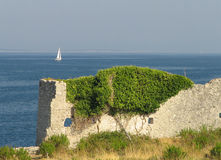 Passing by. Ruins in 4000 yars old city Osor - island Cres, Croatia Stock Photos