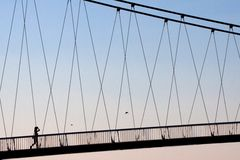 Passing by. Abstract forms of a Croatian footbridge Stock Photography