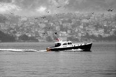 Passing the Bosphorus. Peace calm istanbul bosphorus... the water between asia and europe Stock Images