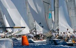 Passing buoy Princesa Sofia regatta Stock Images