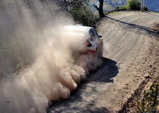 Passing by car at rally Stock Image