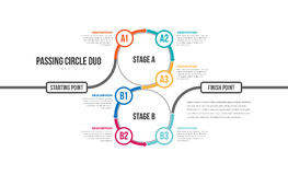 Passing Circle Duo Infographic. Vector illustration of passing circle duo infographic design element Royalty Free Stock Photos