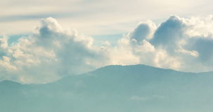 Passing Clouds At Mountain stock video footage