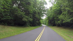 Passing Cyclists on the Blue Ridge Parkway stock footage