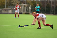 Passing in czech women field hockey extraleague Stock Images
