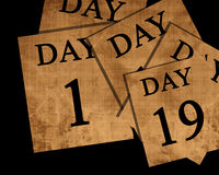 The passing of days Stock Image