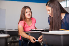 Passing down messages in class Stock Photo