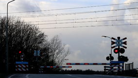 Passing dutch train, Voorstonden, Gelderland Stock Photography