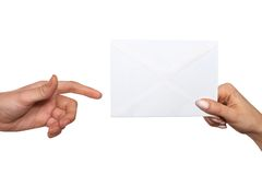 Passing envelope Royalty Free Stock Image