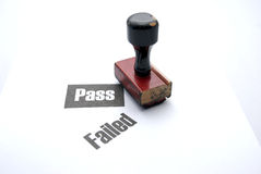 Passing and failled stamp Royalty Free Stock Photo