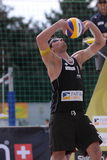 Passing Jonathan Erdmann - beach volleyball Royalty Free Stock Image