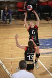 Passing Lucie Smutna - Volleybal Stock Image