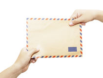 Passing mail Stock Image