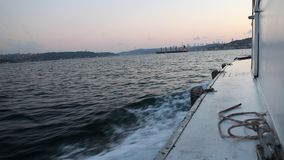 Passing over the Bosphorus in istanbul stock video footage