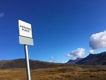 Passing Place in Applecross. Stock Photography