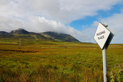 Passing Place of a Road on Skye Royalty Free Stock Image