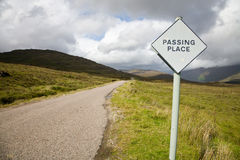 Passing place, Scotland Stock Photography