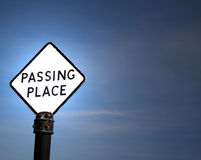 Passing Place sign Royalty Free Stock Photos