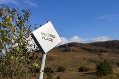 Passing Place sign, Glen Torridon Stock Image