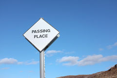 Passing place. Royalty Free Stock Images