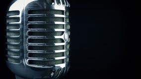 Passing Professional Microphone Closeup Shot