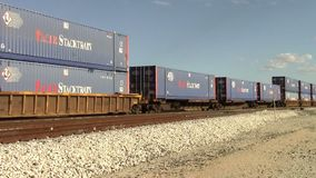 Passing Railroad Containers stock video footage