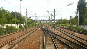 Passing railway switches Stock Images