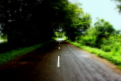 Passing by rainy road, Gujarat, India. On the way to Polo Forest during monsoon Royalty Free Stock Photo