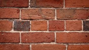 Passing Red Brick Wall. Moving past generic red brick wall closeup stock footage