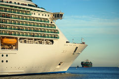 Passing Ships Stock Photo