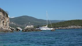 Luxurious yachts anchored at the area of Sivota in Greece 3