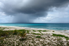 Passing storm cloud over ocean, Anguilla, British West Indies, BWI, Caribbean Royalty Free Stock Photography