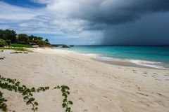 Passing storm cloud over ocean, Anguilla, British West Indies, BWI, Caribbean Stock Photography
