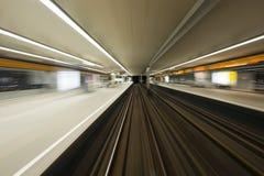 Passing a Subway station Royalty Free Stock Photos