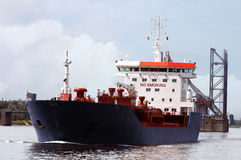 Passing tanker ship Royalty Free Stock Photo