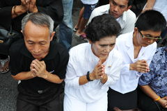 Passing of the Thai Sumpreme Patriarch Stock Photos