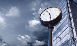 Passing time concept image. With buccines center background stock photo