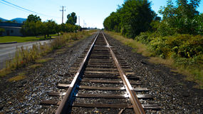 Passing the Tracks royalty free stock photography