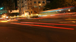 Passing traffic, blurred taillights Royalty Free Stock Photography