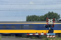 Passing train 2. Passing Dutch intercity train Stock Images