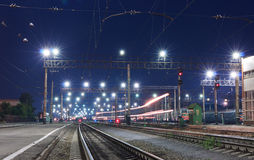 A passing train Stock Photography