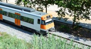 Passing train Stock Image