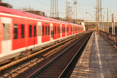 Passing train Royalty Free Stock Photos