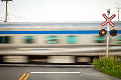 Passing trains Stock Image