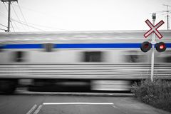 Passing trains Royalty Free Stock Images