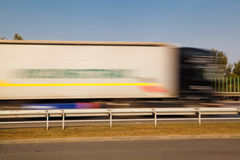 Passing truck Stock Images