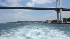 Passing under the Bosphorus Bridge in Istanbul Turkey Stock Photos