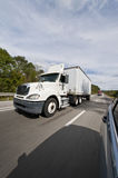 Passing 18-Wheelers On The Interstate Stock Images