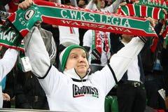 Passioné du football Image libre de droits