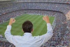 Passioné du football photo libre de droits